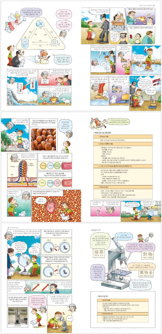 과학 만화책. 2: 화학 생물(상위 5%가 되는)(만화 상위 5% 시리즈 5) 도서 상세이미지