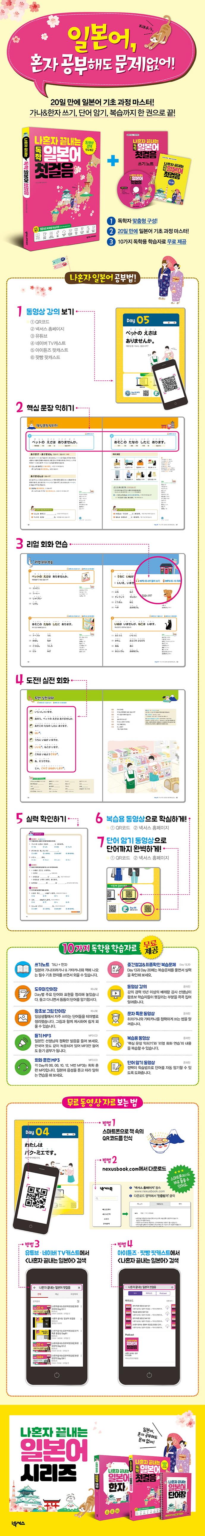 나혼자 끝내는 독학 일본어 첫걸음(CD1장포함) 도서 상세이미지