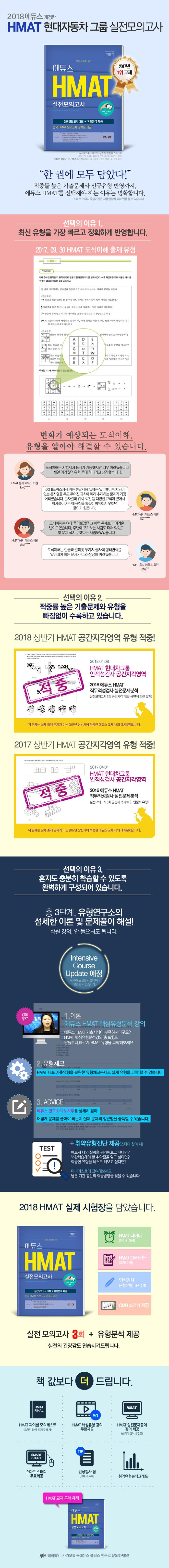 HMAT 실전모의고사(2018 하반기)(에듀스)(개정판) 도서 상세이미지