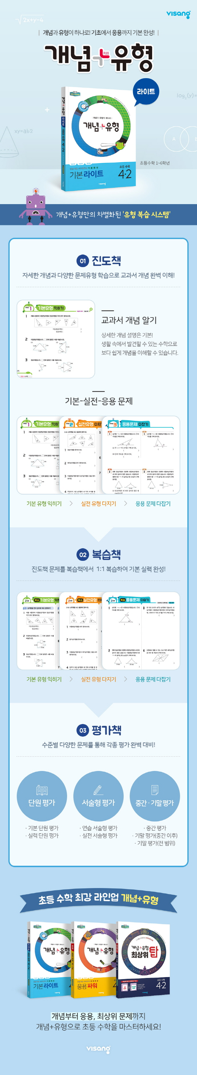 초등 수학 3-2(2019)(개념+유형 기본 라이트) 도서 상세이미지