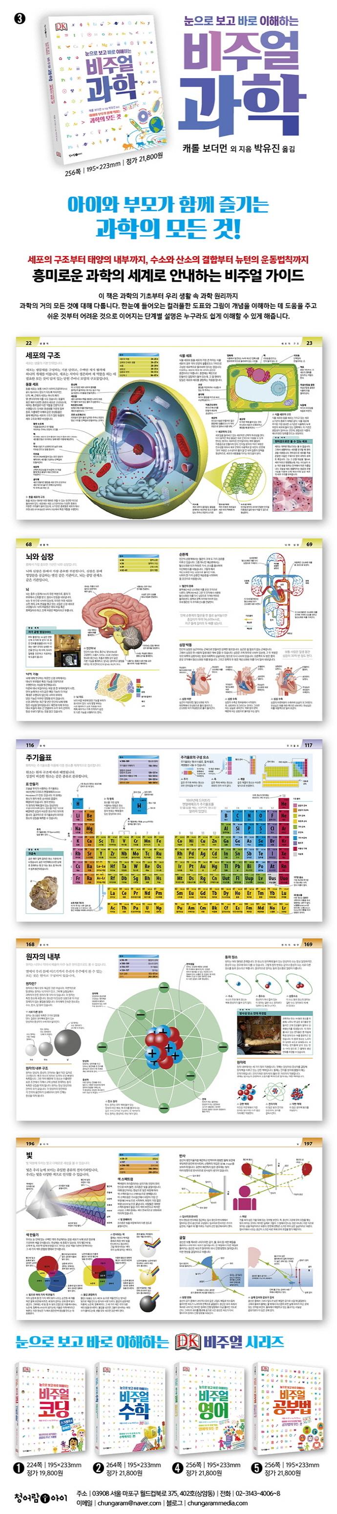 비주얼 과학(눈으로 보고 바로 이해하는)(눈으로 보고 바로 이해하는 DK 비주얼 시리즈 3) 도서 상세이미지