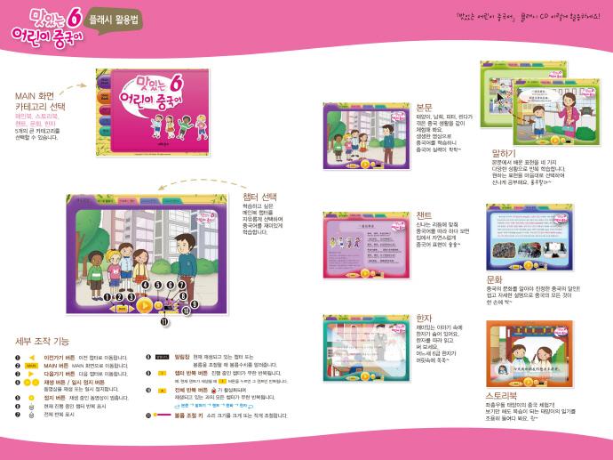 맛있는 어린이 중국어. 6(메인북+플래시CD)(CD2장포함)(맛있는 어린이 중국어 시리즈 6) 도서 상세이미지