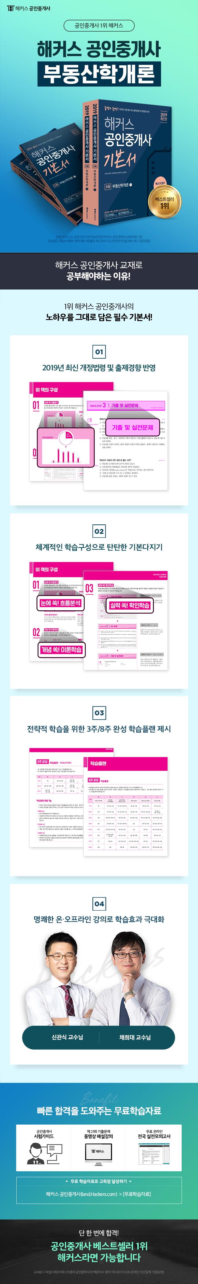공인중개사 1차 기본서 부동산학개론(2019)(해커스)(전2권) 도서 상세이미지