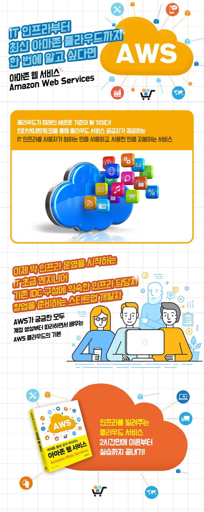 아마존 웹 서비스(Amazon Web Services)(예제를 통해 쉽게 따라하는) 도서 상세이미지