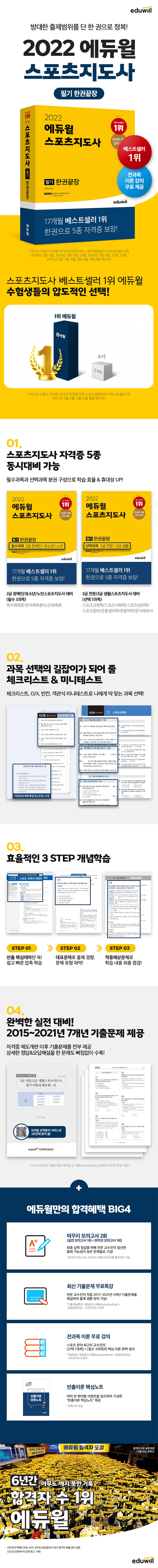 2022 에듀윌 스포츠지도사 필기 한권끝장 도서 상세이미지
