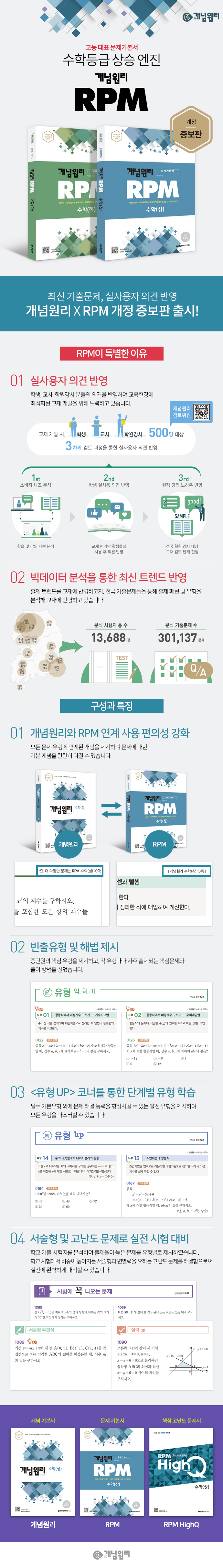 고등 수학(상)(2020)(개념원리 RPM)(개정증보판) 도서 상세이미지