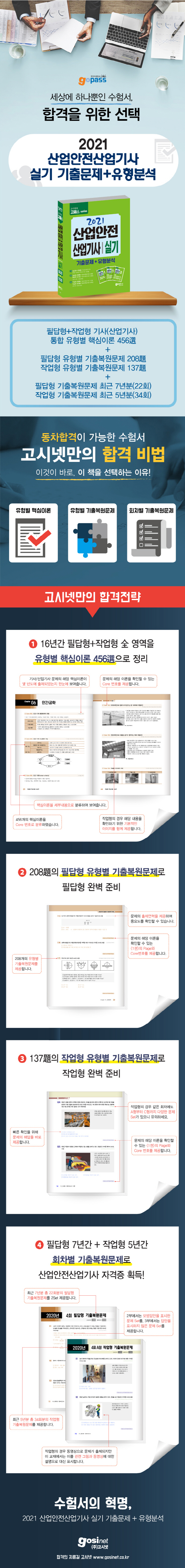 산업안전산업기사 실기 기출문제+유형분석(2021)(고패스 시리즈) 도서 상세이미지