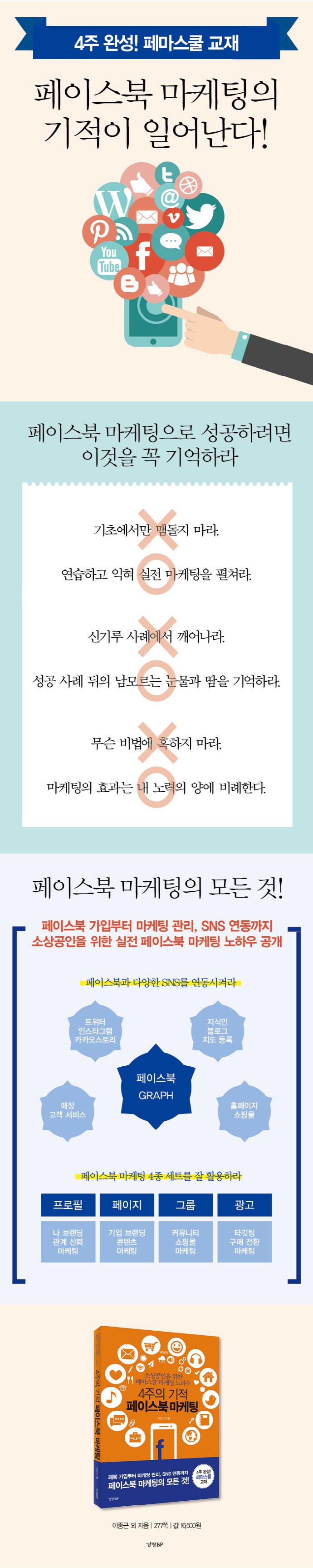 4주의 기적 페이스북 마케팅 도서 상세이미지
