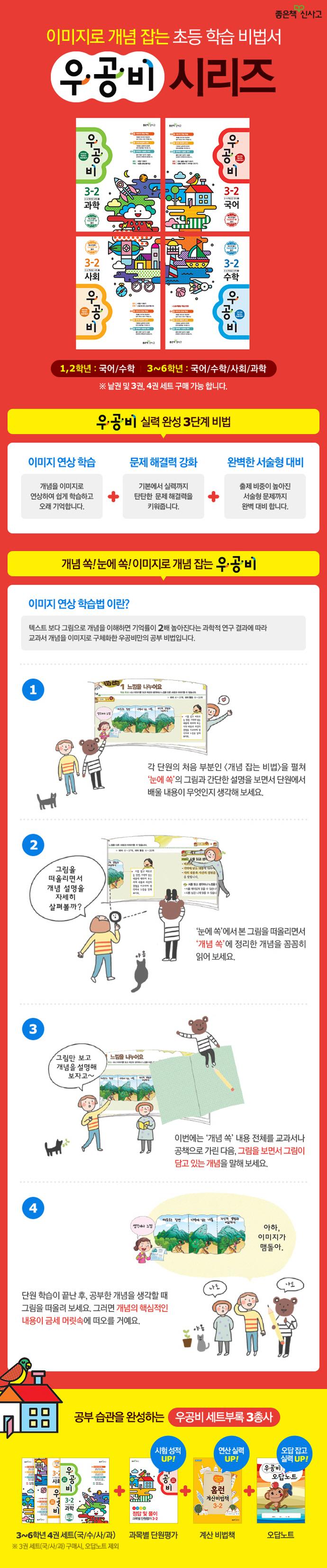 초등 국수사과 3-2 세트(2015)(우공비)(전7권) 도서 상세이미지