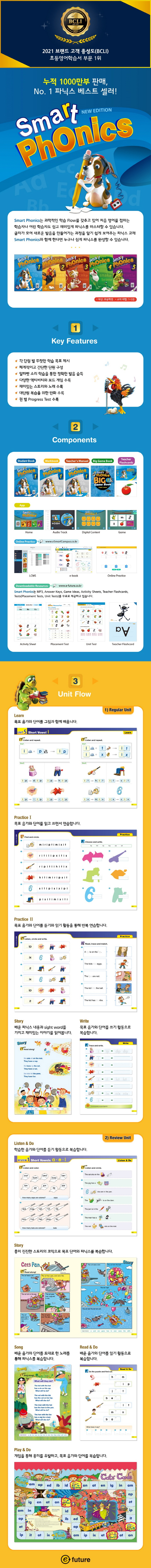 Smart Phonics 3 : Student Book (New Edition)(CD1장포함)(Paperback) 도서 상세이미지