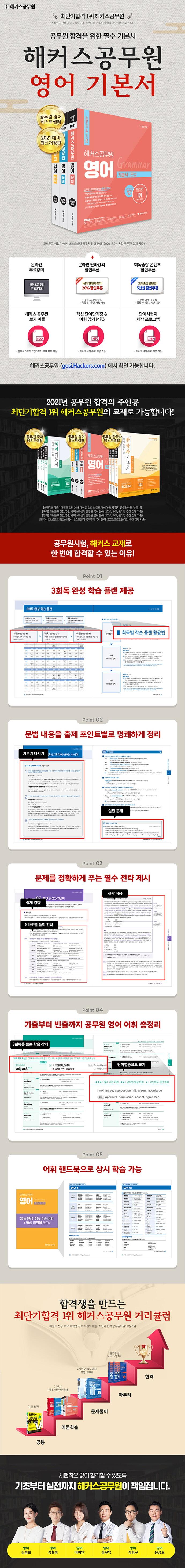 해커스공무원 영어 기본서 세트(2021)(개정판)(전3권) 도서 상세이미지