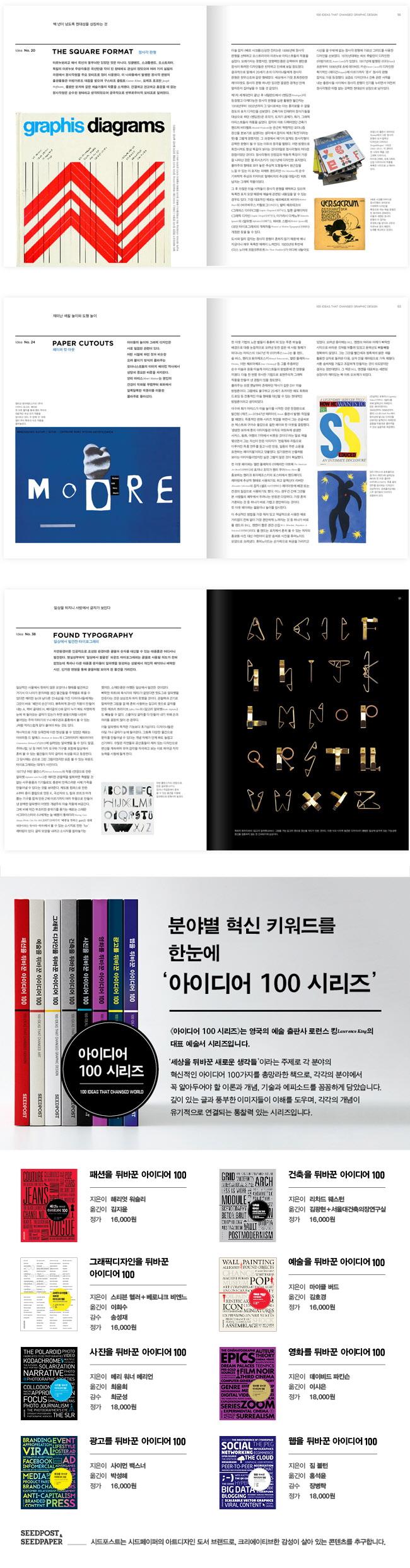 그래픽 디자인을 뒤바꾼 아이디어 100 도서 상세이미지
