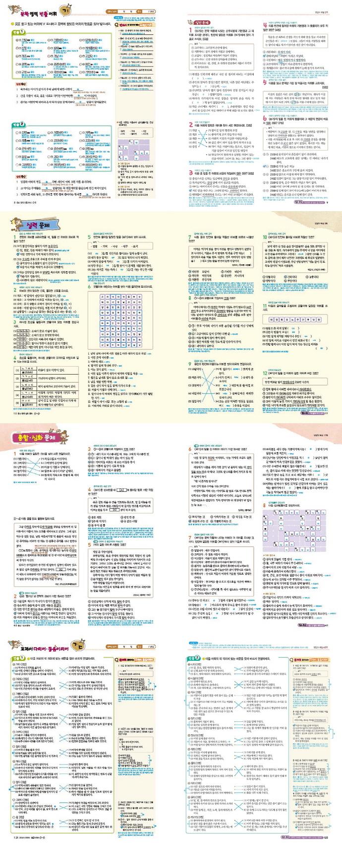 국어어휘완성: 교과서빈출편(수업용 지도서)(2017) 도서 상세이미지