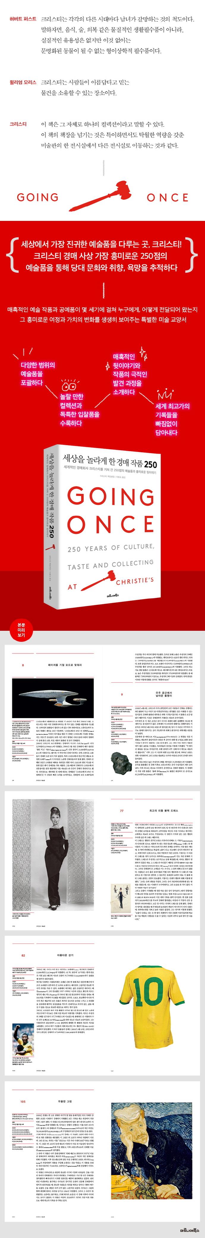 세상을 놀라게 한 경매 작품 250(양장본 HardCover) 도서 상세이미지