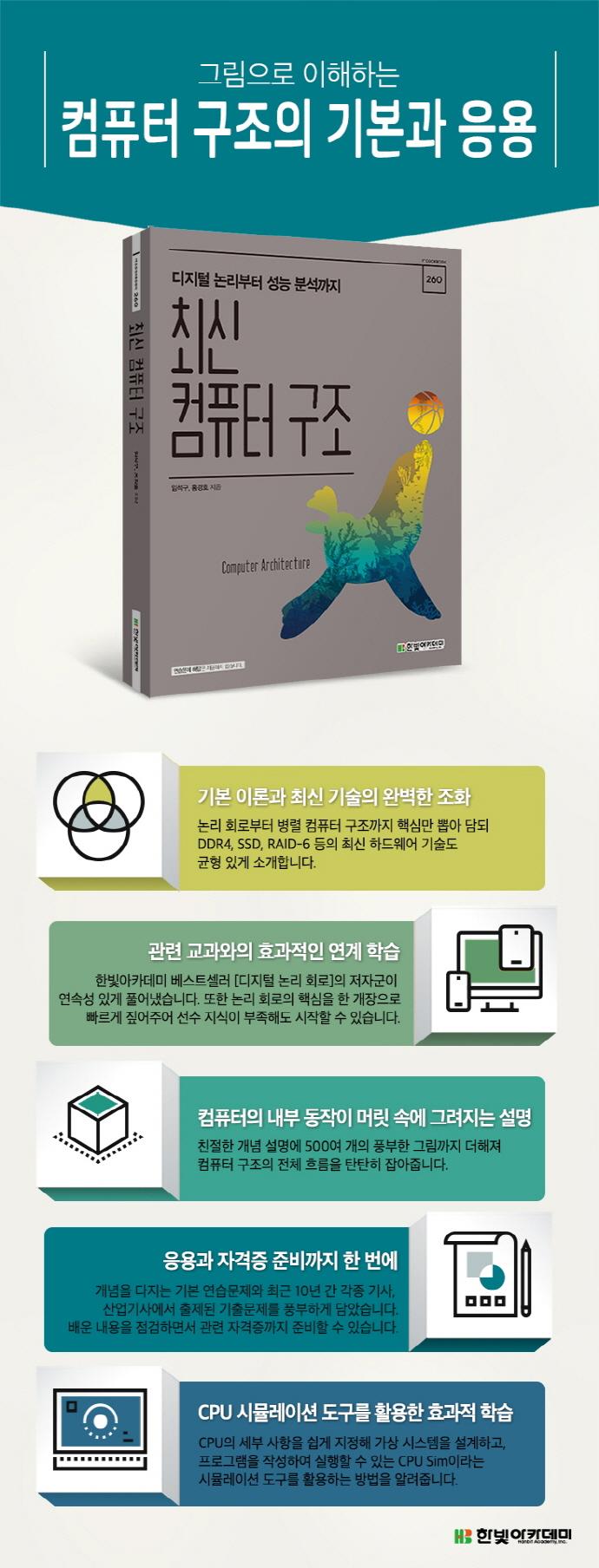 컴퓨터 구조(최신)(IT CookBook 260) 도서 상세이미지