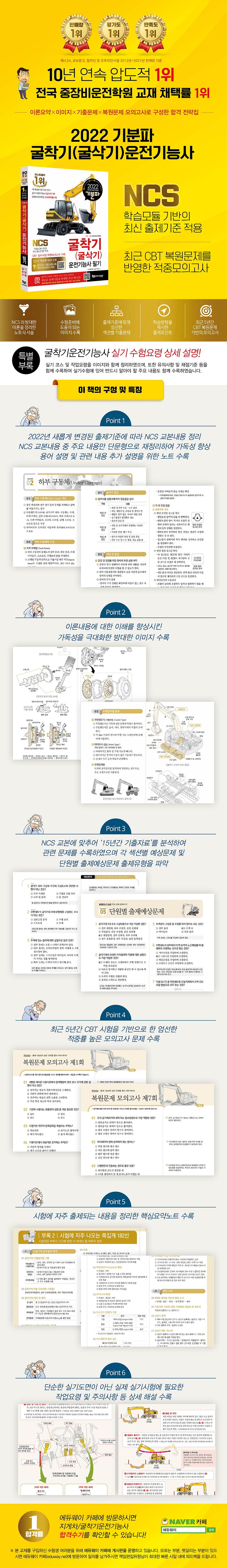 굴삭기운전기능사 필기(2021)(기분파) 도서 상세이미지