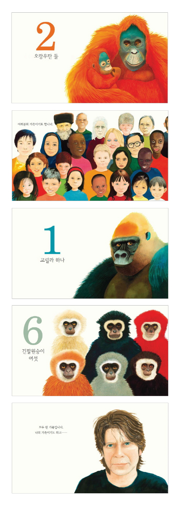 고릴라 가족(웅진 세계 그림책 141)(양장본 HardCover) 도서 상세이미지