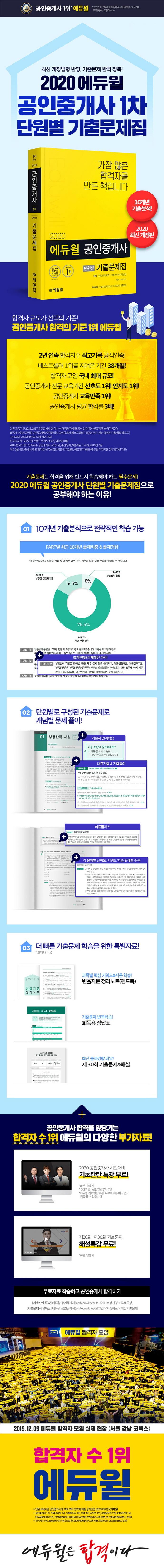 공인중개사 1차 단원별 기출문제집(2020)(에듀윌) 도서 상세이미지