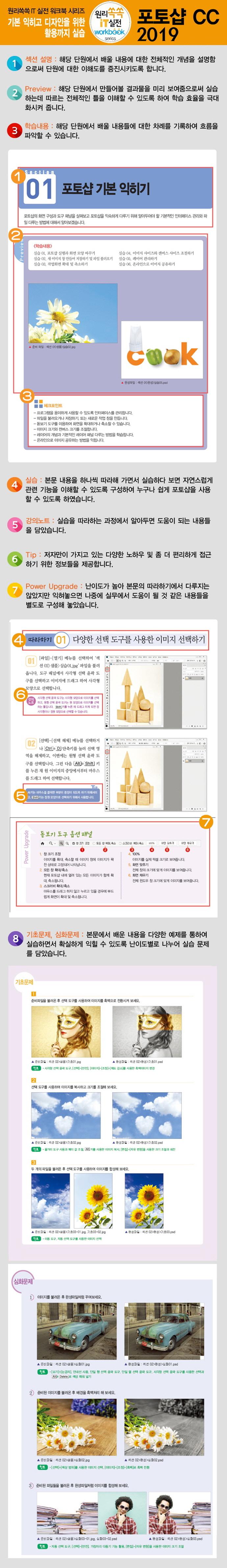 포토샵CC 2019(원리쏙쏙 IT 실전 워크북 20) 도서 상세이미지