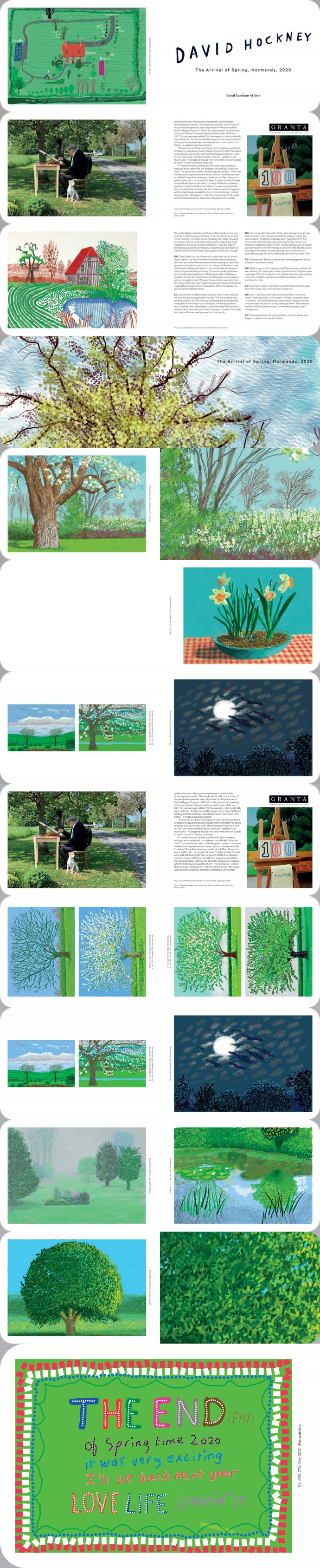 David Hockney: The Arrival of Spring in Normandy, 2020 도서 상세이미지