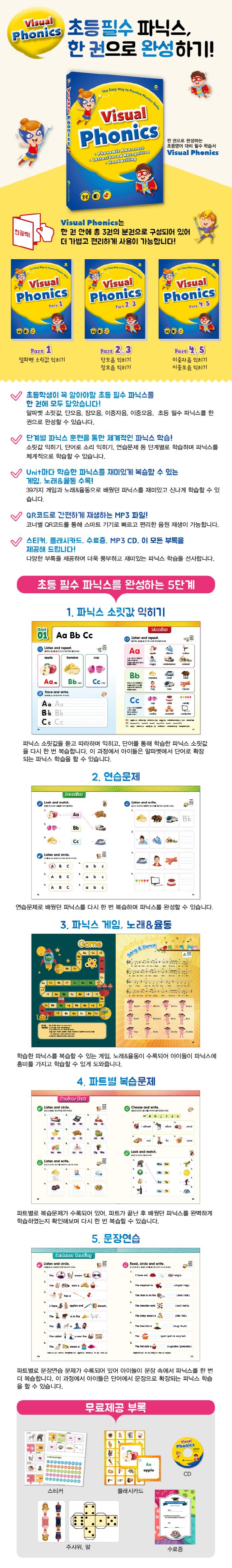 비주얼 파닉스(Visual Phonics)(CD1장포함) 도서 상세이미지