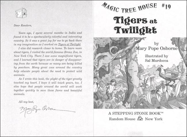 Magic Tree House #19: Tigers at Twilight 도서 상세이미지