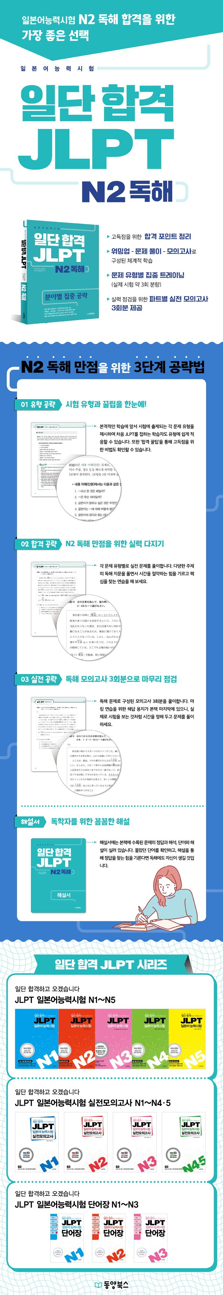 일단 합격 JLPT 일본어능력시험 N2 독해 도서 상세이미지