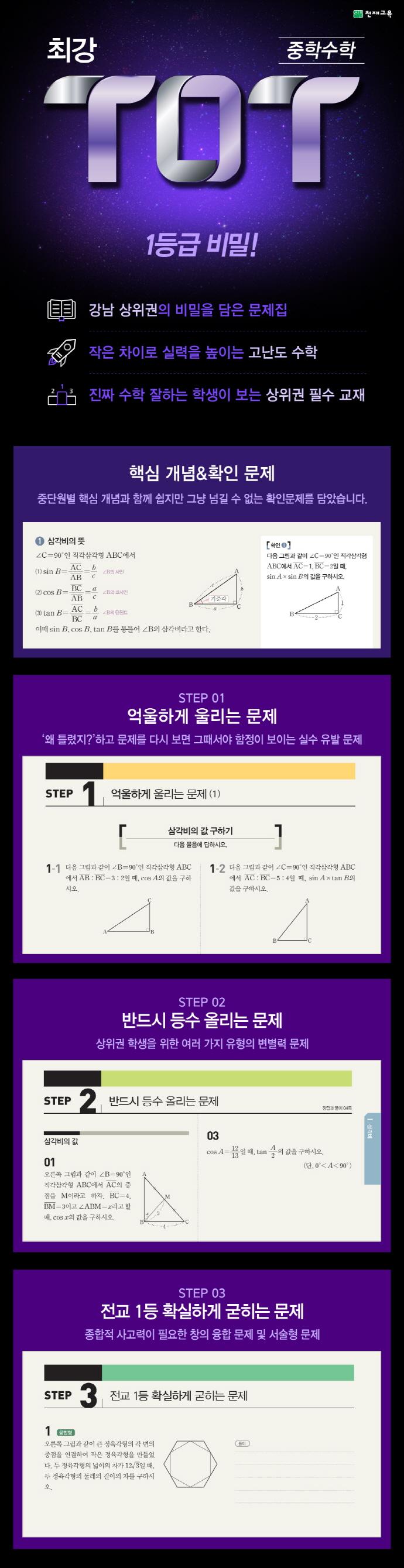 중학 수학 중3-2(2020)(최강 TOT) 도서 상세이미지
