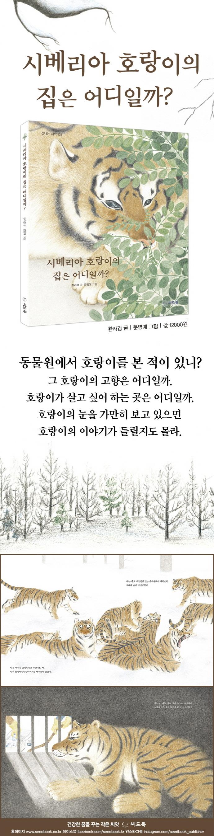 시베리아 호랑이의 집은 어디일까?(신나는 새싹 128)(양장본 HardCover) 도서 상세이미지