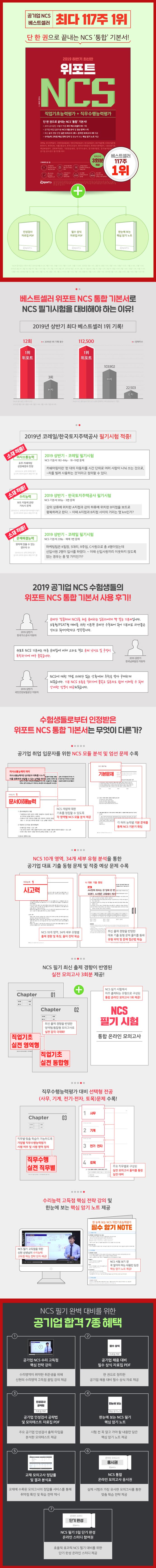 NCS 직업기초능력평가+직무수행능력평가(2019 하반기)(위포트) 도서 상세이미지