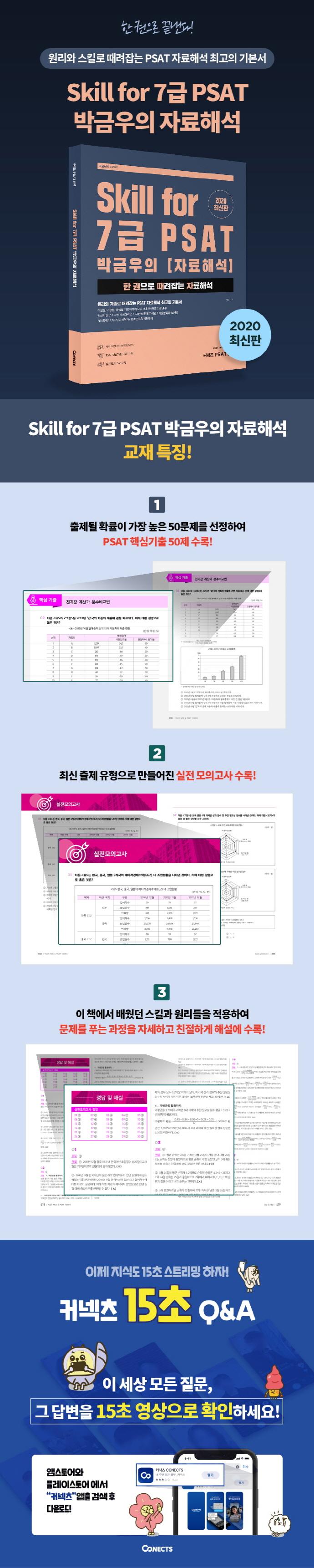 Skill for 7급 PSAT 박금우의 자료해석(2020) 도서 상세이미지