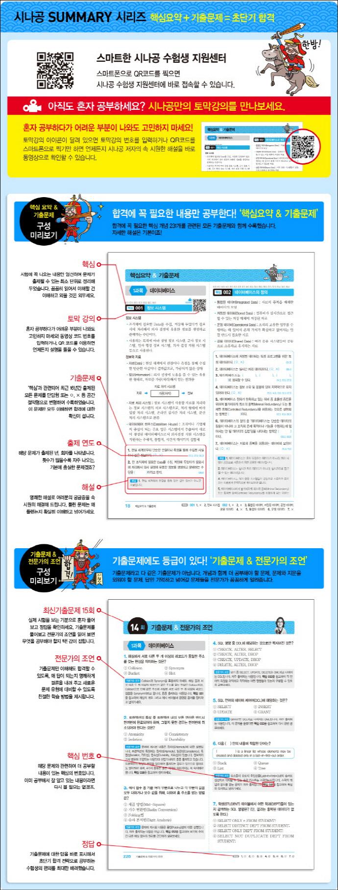 정보처리산업기사 필기(2017)(시나공 Summary) 도서 상세이미지