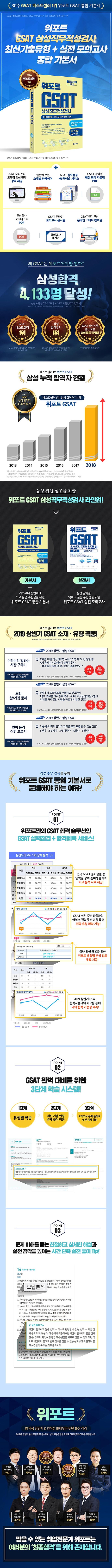 GSAT 삼성직무적성검사 통합 기본서(2019 하반기)(위포트) 도서 상세이미지