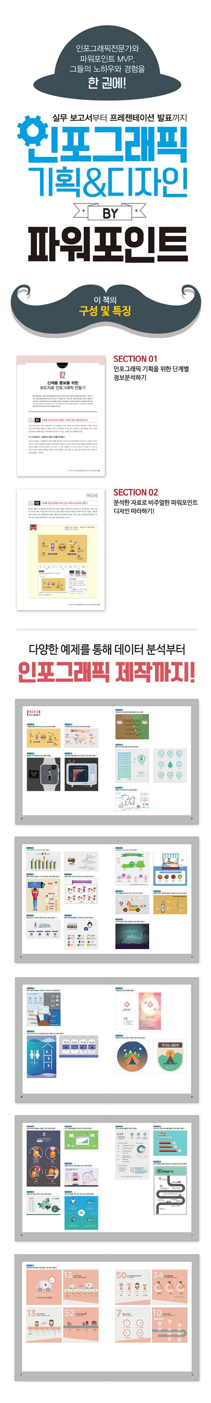 인포그래픽 기획 & 디자인 by 파워포인트(CD1장포함) 도서 상세이미지