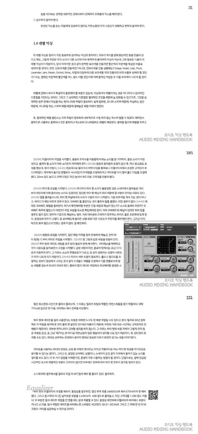 오디오 믹싱 핸드북(Audio Mixing Handbook) 도서 상세이미지