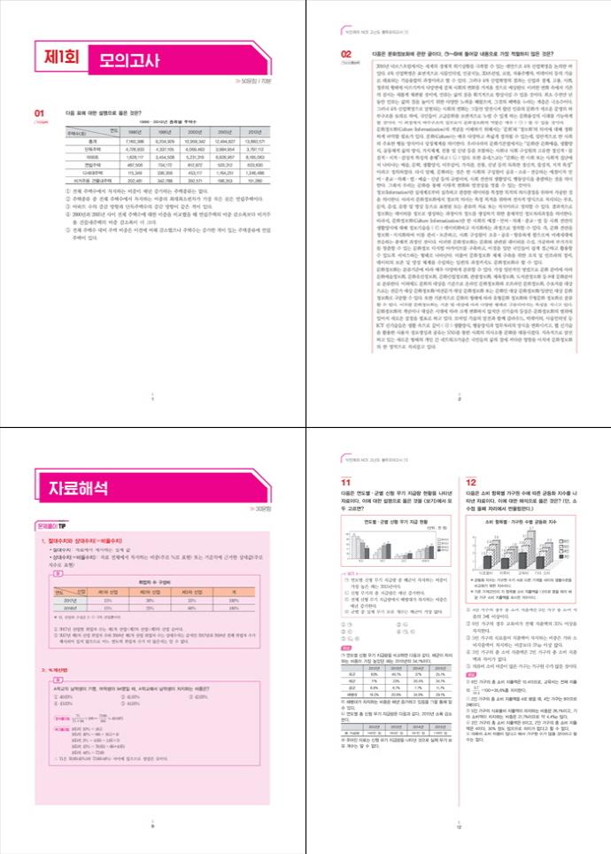NCS 고난도 봉투모의고사. 1: 수리능력 중심(3회분)(박민제의) 도서 상세이미지