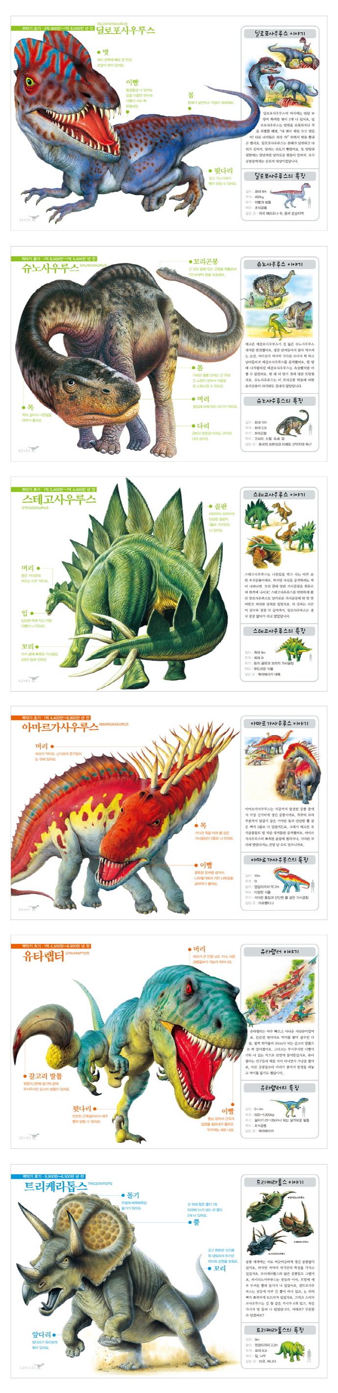 진짜 진짜 재밌는 공룡 그림책(양장본 HardCover) 도서 상세이미지