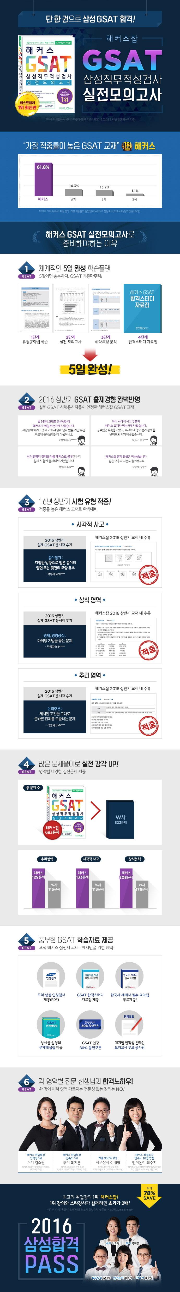 GSAT 삼성직무적성검사 실전모의고사(해커스) 도서 상세이미지