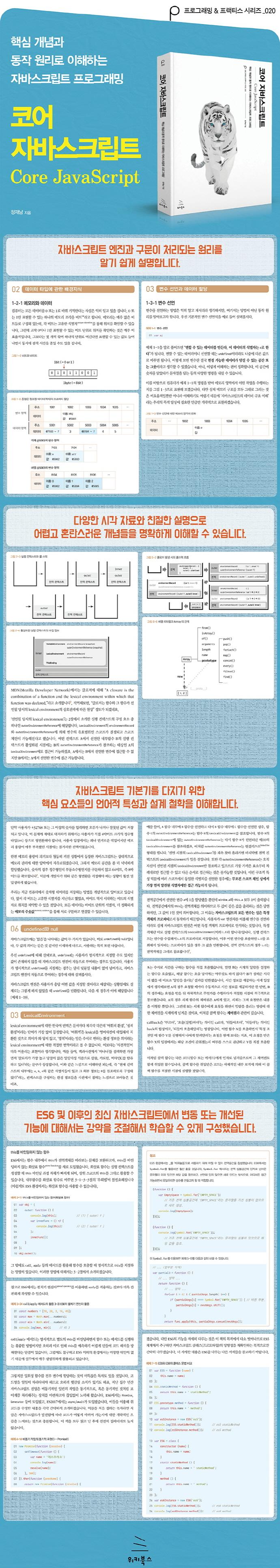 코어 자바스크립트(프로그래밍 & 프랙티스 시리즈 20) 도서 상세이미지