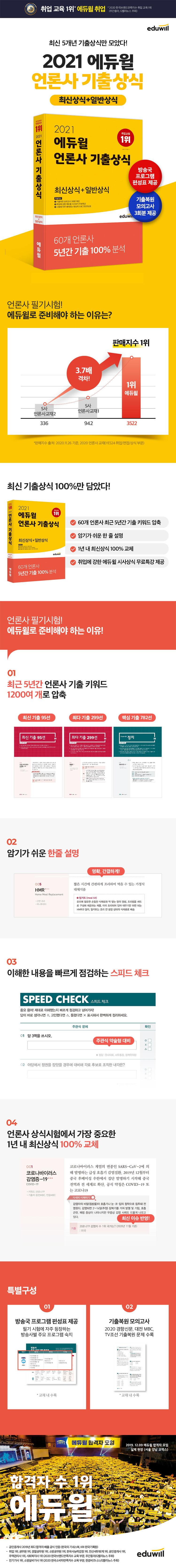 언론사 기출상식 최신상식+일반상식(2021)(에듀윌) 도서 상세이미지