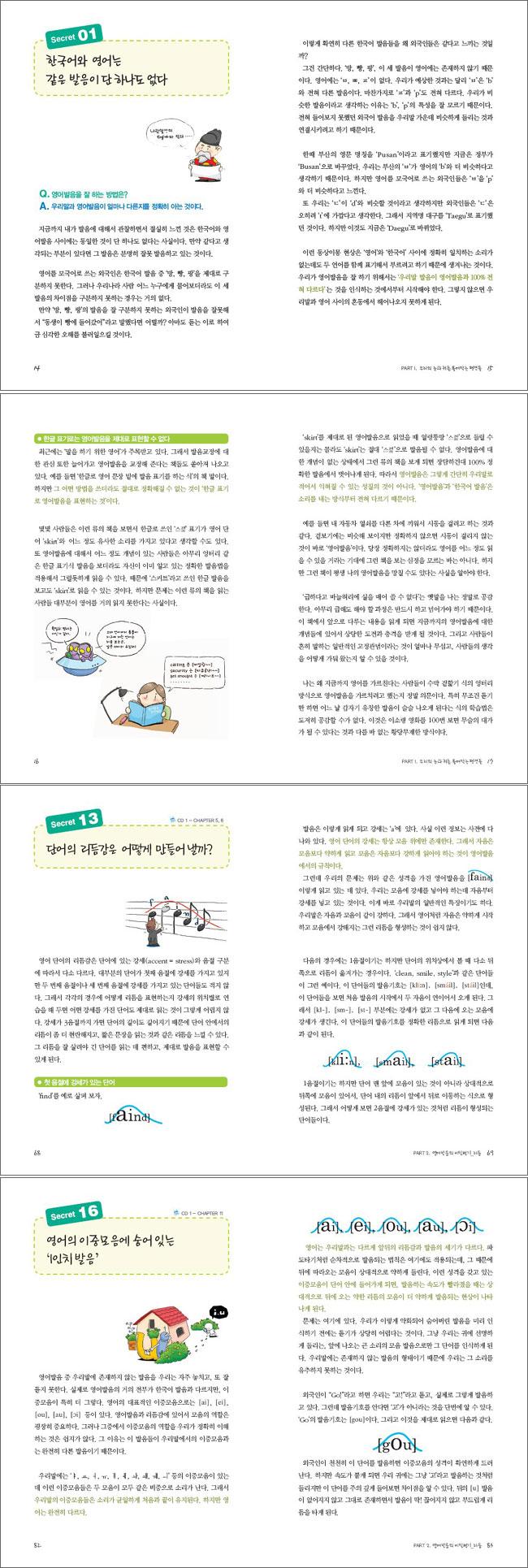 김명기의 영어발음 시크릿 35(동영상CD2장포함) 도서 상세이미지