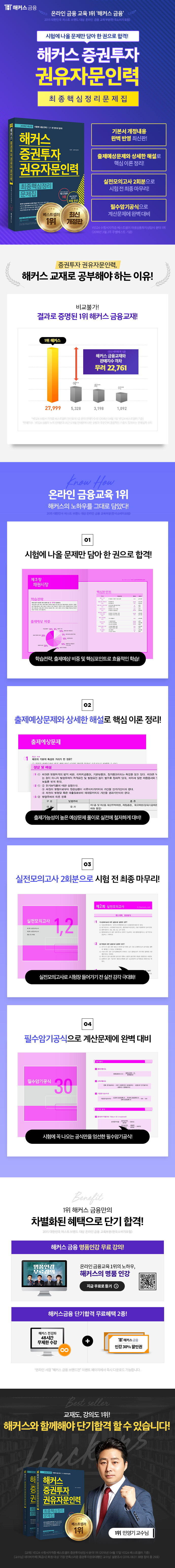 증권투자권유자문인력 최종핵심정리문제집(2018)(해커스) 도서 상세이미지