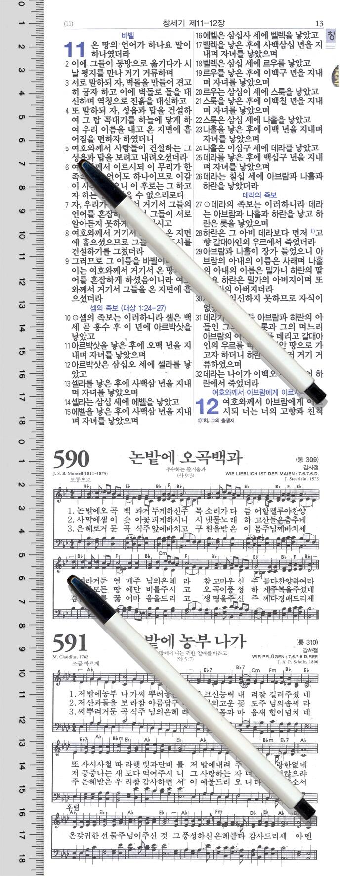 두란노성경전서(투톤블루)(NKR72TU)(합본)(개역개정)(새찬송가) 도서 상세이미지