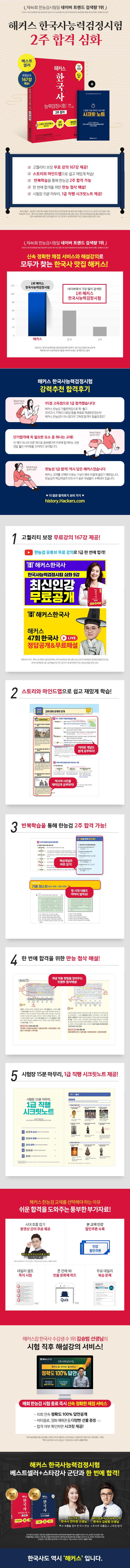 한국사능력검정시험 2주 합격 심화(1·2·3급)(2020)(해커스) 도서 상세이미지