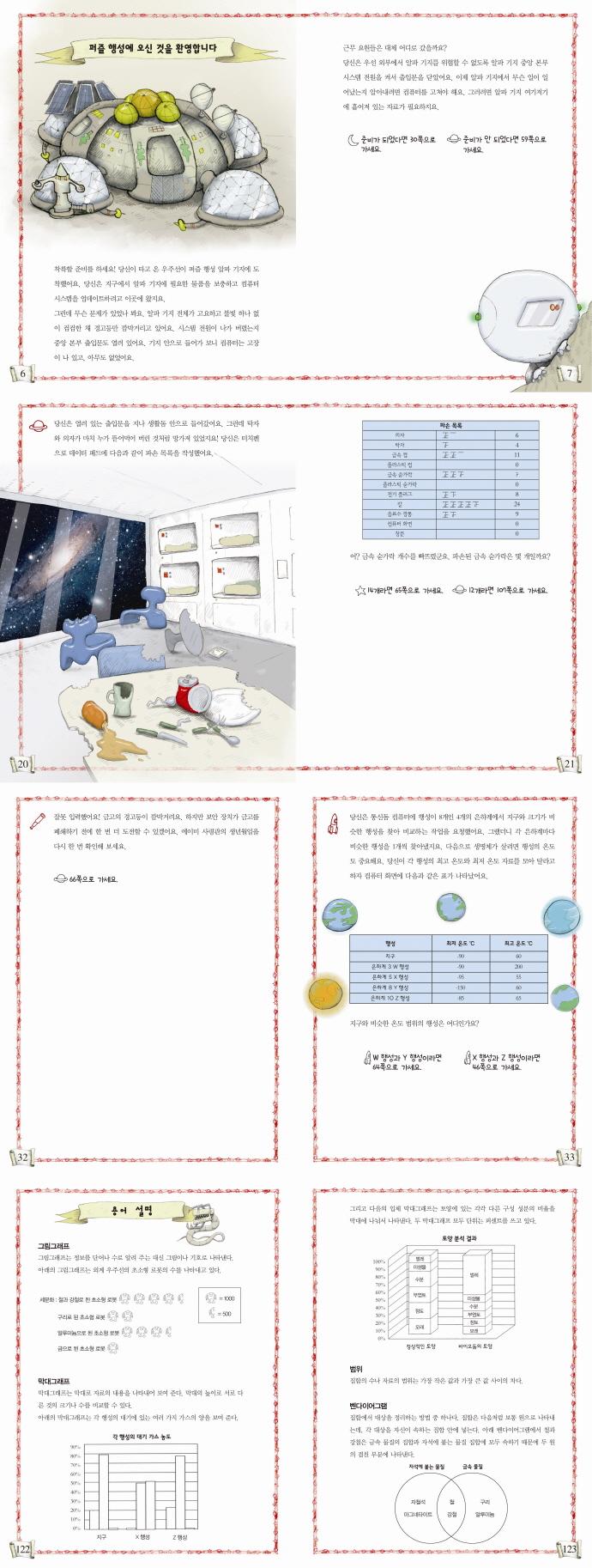 퍼즐 행성의 모험(Maths Quest 3) 도서 상세이미지
