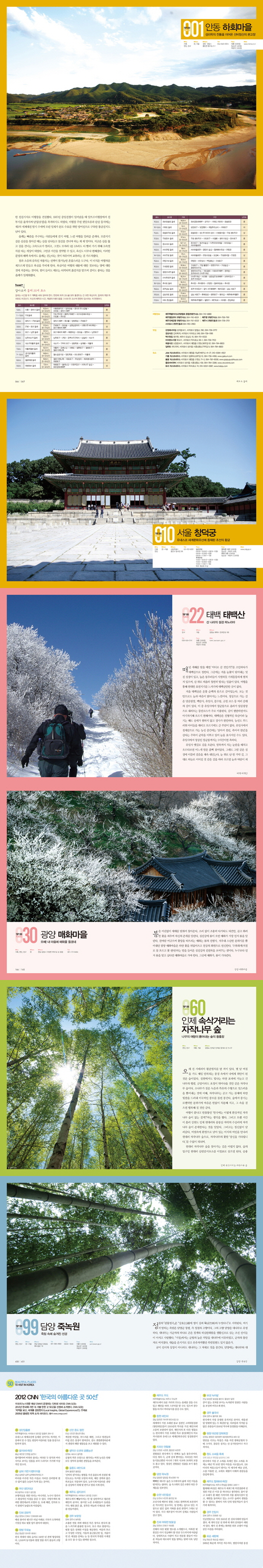 대한민국 최고 인기여행지 100 도서 상세이미지