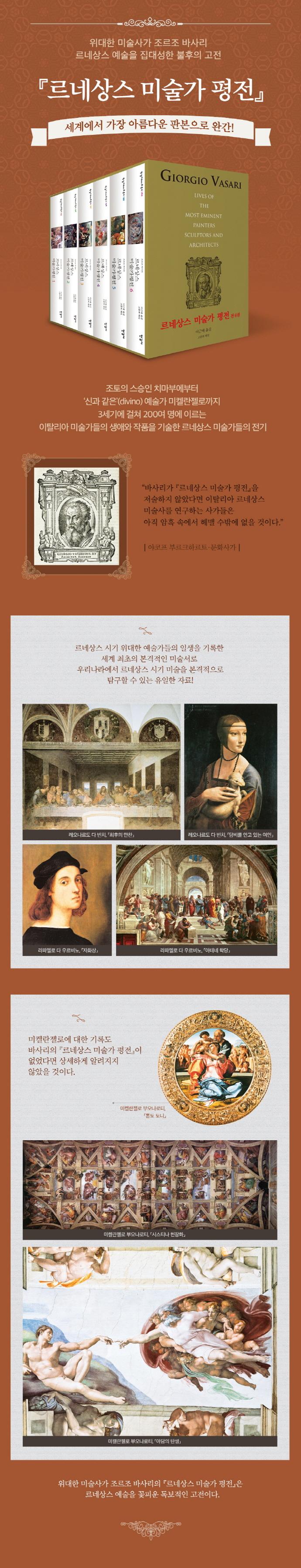 르네상스 미술가 평전 1-6권 세트(전6권) 도서 상세이미지