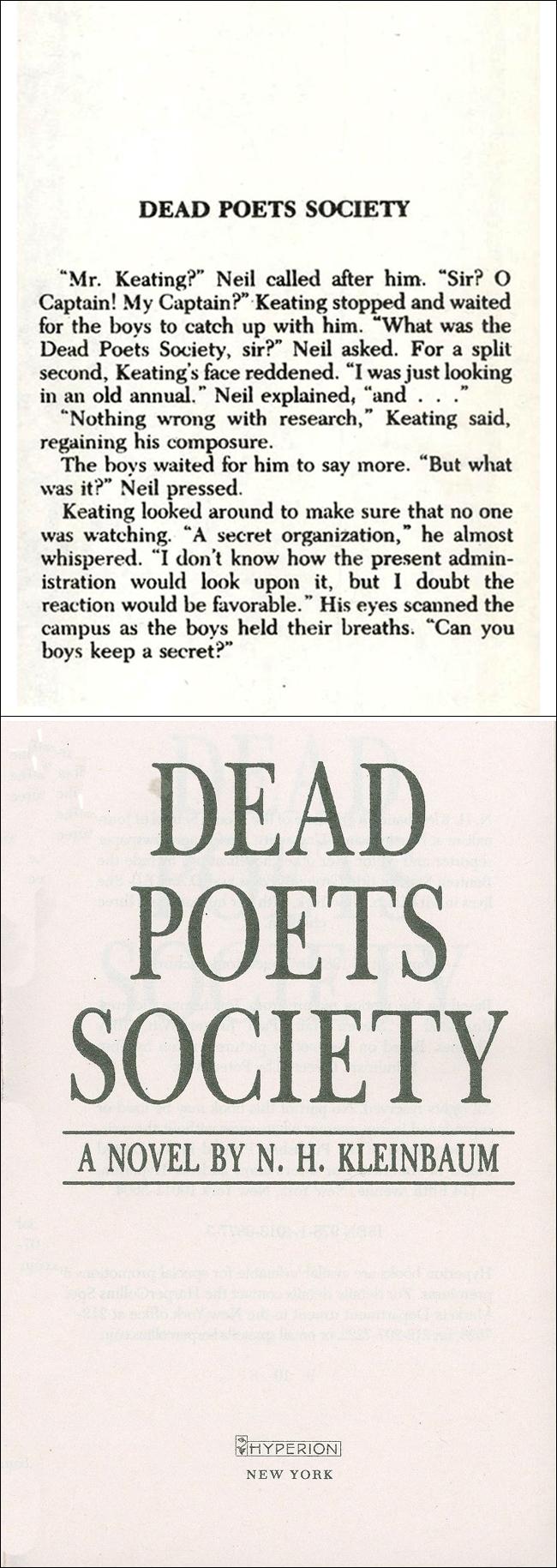 Dead Poets Society ���� ���̹���