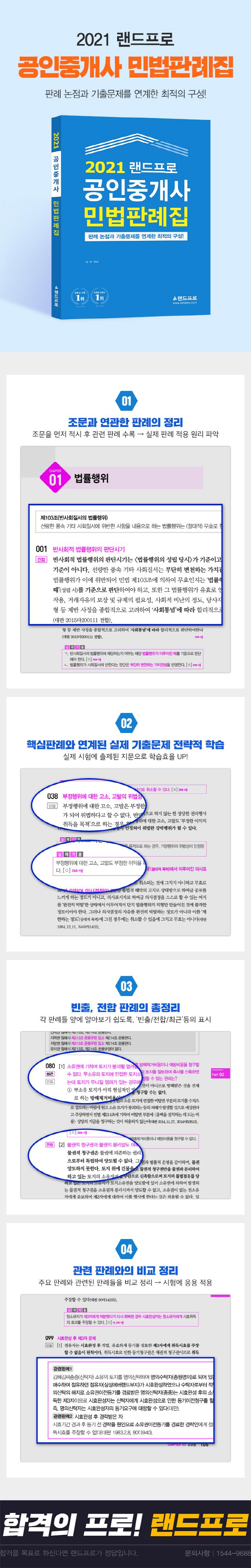 2021 랜드프로 공인중개사 민법판례집 도서 상세이미지