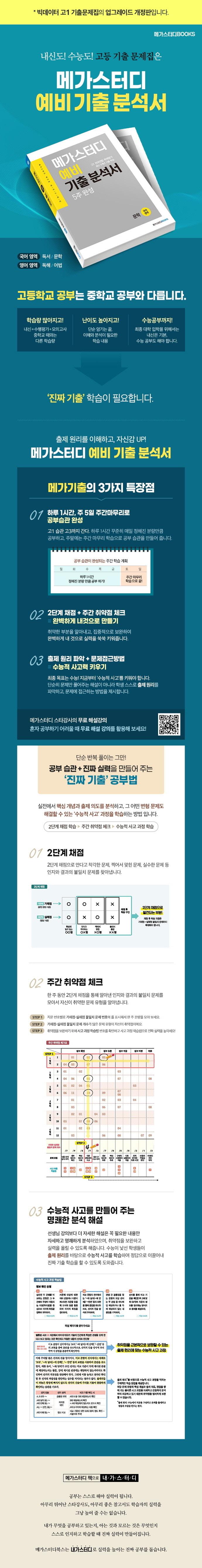 고등 국어영역 독서 고1 예비 기출분석서 4주 완성(2021)(메가스터디) 도서 상세이미지
